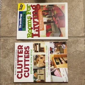 2 books Clutter Cutters & Rooms for Living